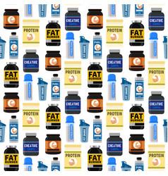 bodybuilders gym athlete sport food diet seamless vector image