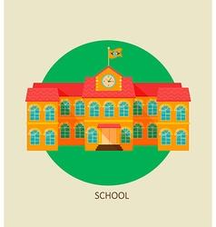 Classical school building icon vector