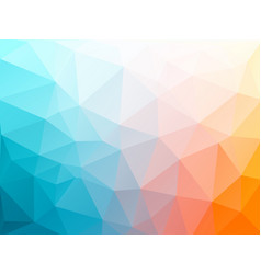 color triangular abstract background vector image