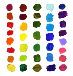 Colorful brush stain vector image