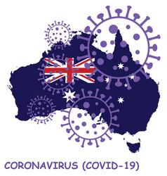 Coronavirus covid 19 australia map vector