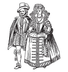 Costumes vintage engraving vector
