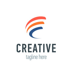 creative logo signs vector image