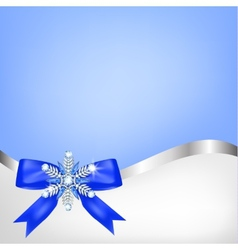 Diamond snowflake with bow vector image