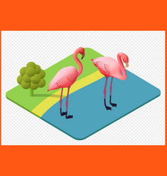 Flamingo eps vector