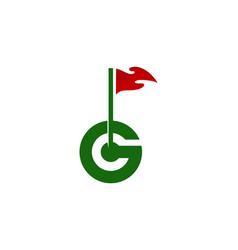 g letter golf logo icon design vector image