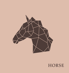 Geometric horse head vector