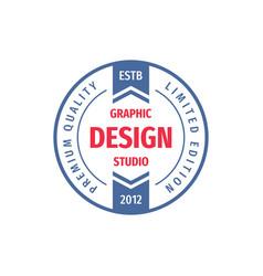 graphic design studio - concept logo circle vector image