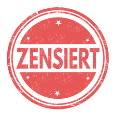 grunge rubber stamp with text censored in german vector image