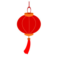 hanging decoration chinese lantern paper graphic vector image