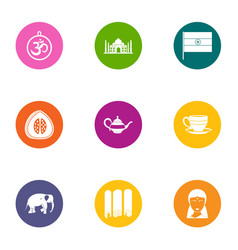 Herald icons set flat style vector