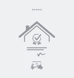Home certification - web icon vector