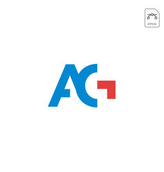 Initial ag logo or symbol business company icon vector