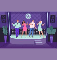 karaoke club performance concert adult people vector image