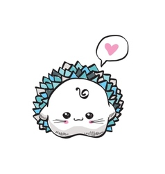 kawaii cute hedgehog vector image