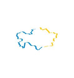 kazakhstan map icon symbol element vector image