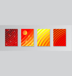 layout templates with red and orange gradient vector image