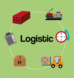 Logistic service set icons vector
