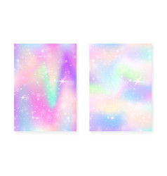 magic background with princess rainbow gradient vector image