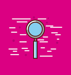 Magnifying glass poster image vector