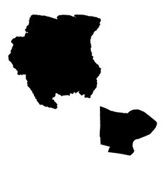 Map suriname and paramaribo country and capital vector