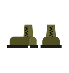 military boots isolated army shoes soldiers vector image
