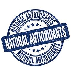 Natural antioxidants blue grunge round vintage vector