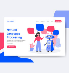 natural language processing concept vector image