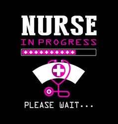 Nurse typographic quotes design vector