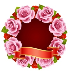 Pink Rose Frame vector