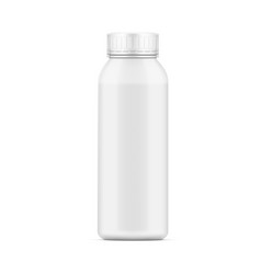 plastic milk yogurt or shampoo pottle with lid vector image