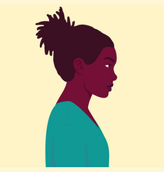 Portrait an african woman in profile vector