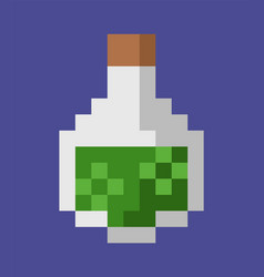 potion in glass bottle pixel art game icon vector image