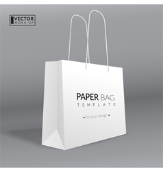 Realistic paper bag template vector