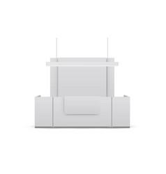 reception mockup isolated on white background vector image
