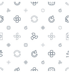 Rotation icons pattern seamless white background vector