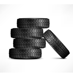 Rubber tires vector image