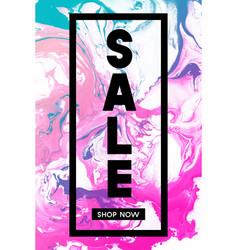 Sale shop now black typographic banner template vector