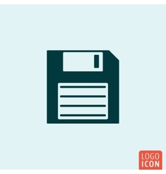 Save icon template vector image