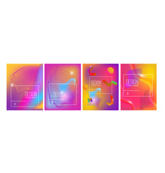 set banner design templates with abstract vibrant vector image