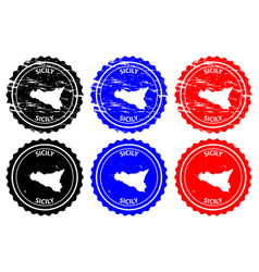 Sicily rubber stamp vector