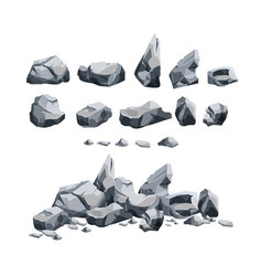 stones set in cartoon style vector image