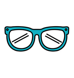 Sunglasses device isolated icon vector
