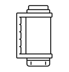 thermos bottle icon outline style vector image