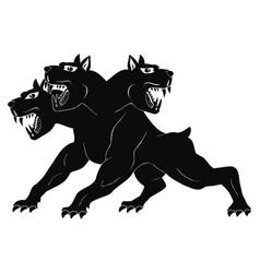 three-headed dog cerberus vector image