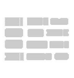 Tickets of different forms shapes of tickets vector