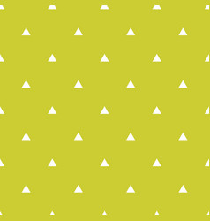 tile pattern with white triangles on green vector image