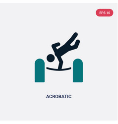 Two color acrobatic icon from magic concept vector