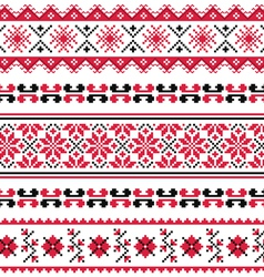 Ukrainian folk emboidery pattern or print vector