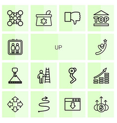 Up icons vector